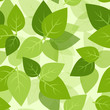 Seamless background with green leaves. Vector EPS-10.