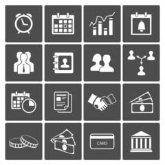 Time and Money Icons Set