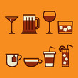 drinks & beverages icons set