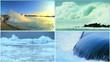 Environmental Montage Volcanic Springs Ocean Wave Power