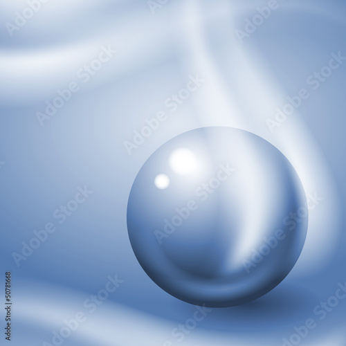 Metal ball in blue tone. Eps10 vector.