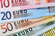 Euro money close up