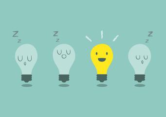 bright idea concept with light bulb
