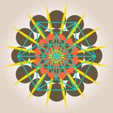 geometrical design with sacral sense poster