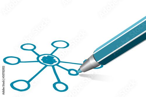 Diagramm Netzstruktur