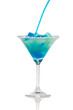 Fresh cocktail with blue curacao