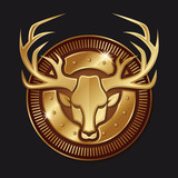Cerf logo or