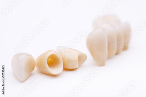 Leinwanddruck Bild zahnkronen