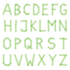 Klebestreifen Buchstaben grün