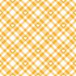 Herz auf Karo Tischdecken Muster - endlos