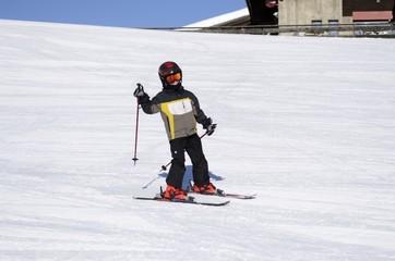 petit skieur