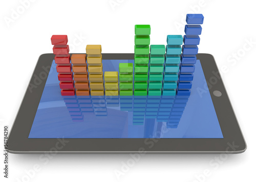 TABLET AND EQUALIZER - 3D