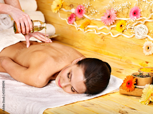Woman getting  massage .
