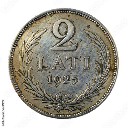 Vintage Latvian coin
