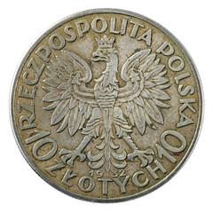 Vintage Poland coin