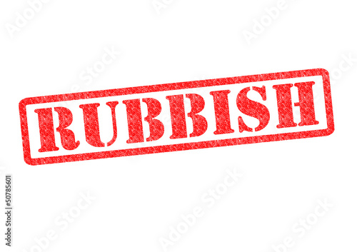 RUBBISH Rubber Stamp