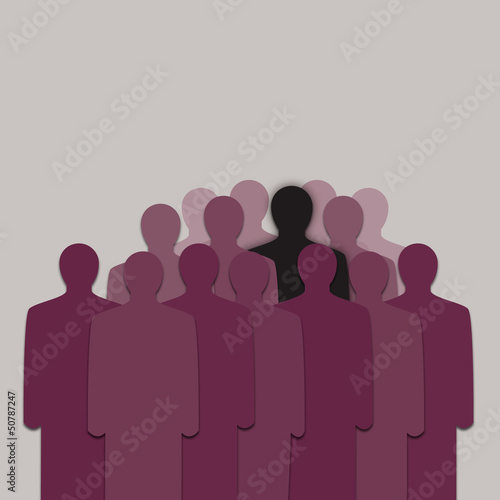 Different and Alone in Crowd of People