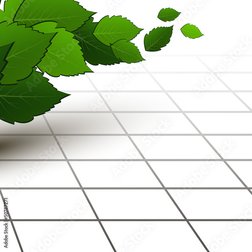 Spring - fresh green leaf. Vector illustration