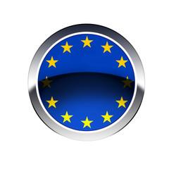 EU flag  on button