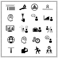Business icons set, Vector illustration