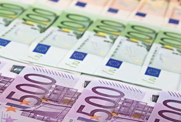 Geldscheine 500, 100, 50 Euro
