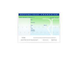 carte identité vierge