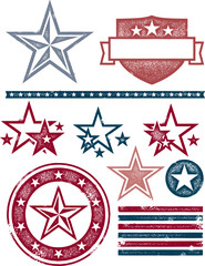 Vintage USA Stars and Stripes