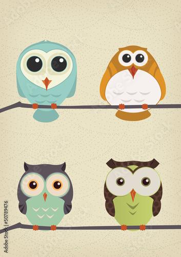 Owls set - 50789476