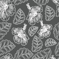 seamless flowers pattern. you can easily change colors