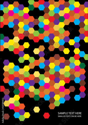 abstract vector background with colorful symmetrical shapes