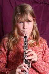 Mädchen mit Oboe