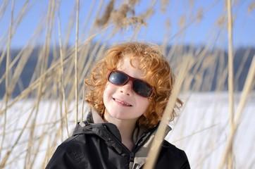 portrait garçon, 5 ans, roux