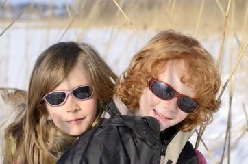 portrait enfants, hiver