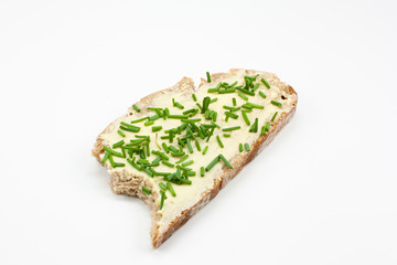 brown bread with chives