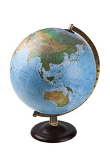 Close-up of globe over white background