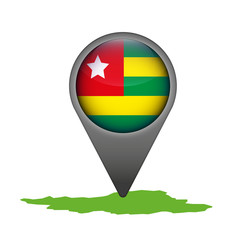 Togo Markierung Flagge Icon Button