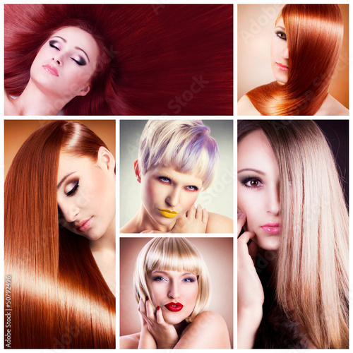Hair collage