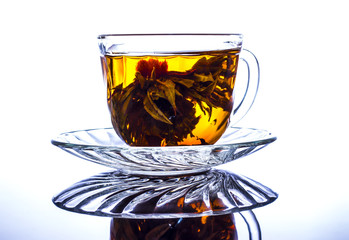 Chinese tea cup with reflection