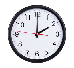Office clock is exactly two hours