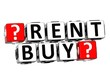 3D Rent And Buy Button Click Here Block Text