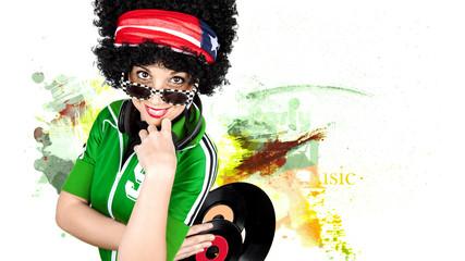 Funky disco DJ