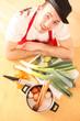 Koch mit Gemüse