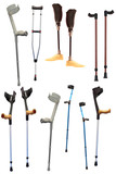 crutches and prosthetic devices