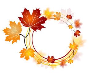 Médaillon de feuilles d'automne
