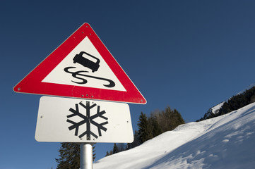 Winterdienst Sign