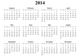 simple editable vector calendar 2014 sunday firts