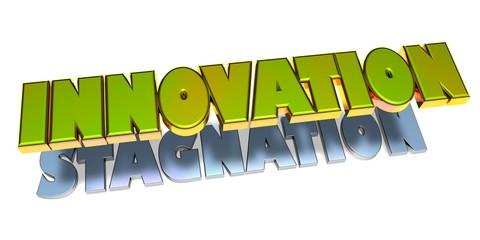 3D Goldzeichen - Innnovation - Stagnation