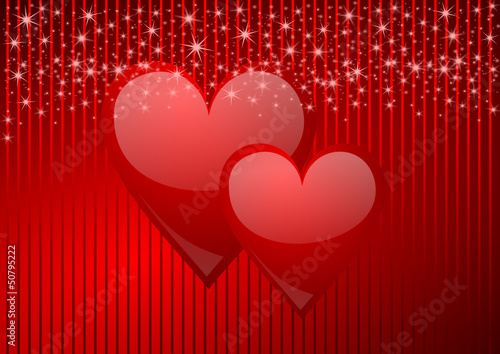 valentine vector background with hearts