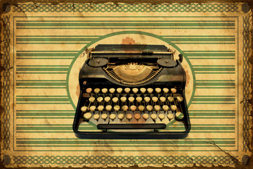 Retroplakat - Schreibmaschine