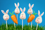 Bunny and carrot cake pops